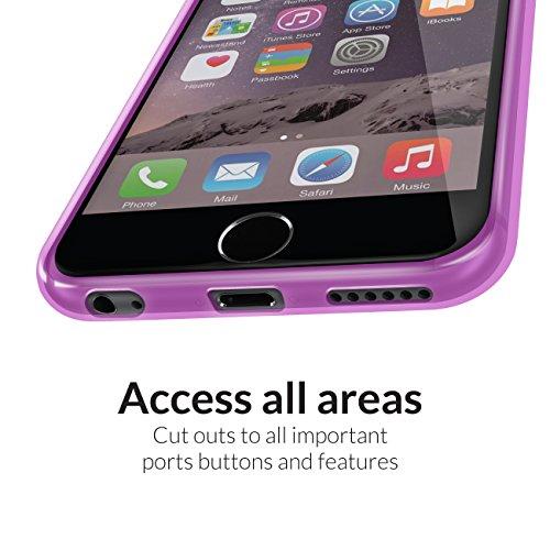 Orzly® - Stardust Case for iPHONE 6 (Large / 5.5 inch) - Protective Flexible Silicon Gel Phone Case with Sparkly Glitter Effect - Couverture / Housse / Étui en Couleur ROSE - ébauche exclusivement pou POURPRE FlexiCase pour iPhone 6 & 6S