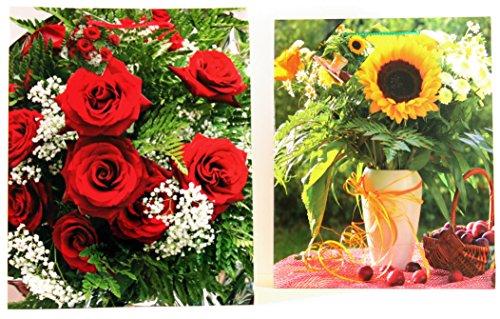 Pochettes de large (grande) fleurs blumenbeutel sac pochette sac pochette sacs de fleur blumentüte 411 96 Stück