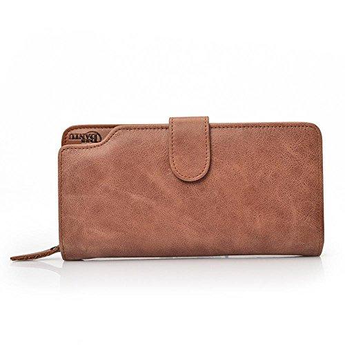 Aoligei Hommes de carte multi-sac main cuir grand portefeuille tenant sac business loisirs tête en cuir