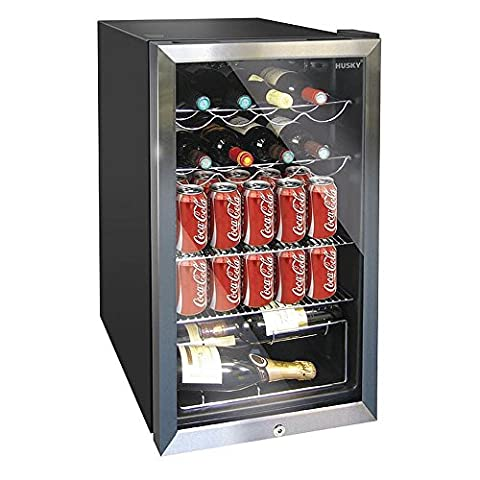 Husky Undercounter Wine Cooler Chiller Refrigerator with 91Ltr Capacity and 4 shelves. Will chill up to 20 bottles of wine or other assorted