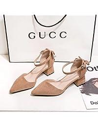 Donyyyy Zapatos superficial, solo zapatos, zapatos de primavera, áspera y rugosa, y ásperas y señaló la mujer...