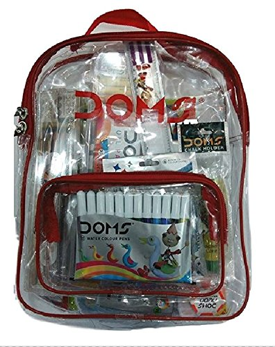 Doms Go To School Stationery Kit (11 Pcs In Kit) With Transparent...
