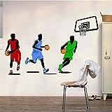 Weaeo Gimnasio De Baloncesto Pegatinas Decorativas De Pared Dormitorio Paredes Ambiental Deportes Material Adhesivo De Pared Póster De Fondo Ambiental