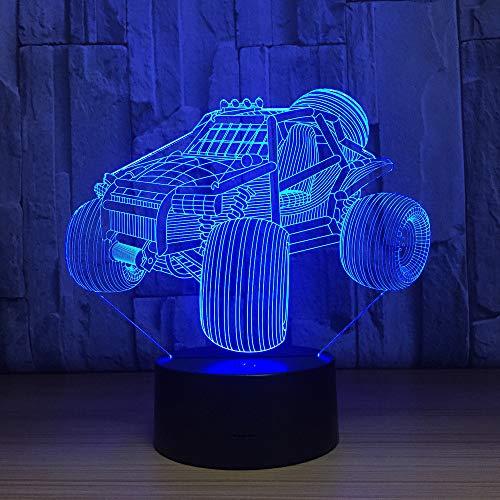 Qliyt Berg Auto 3D Led Lampe Nachtlicht Acryl Tischlampe Touch 7 Farben Ändern Usb Motorrad Schlaflicht Für Geburtstagsgeschenk -