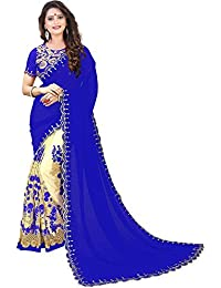 Siddeshwary Fab Women's Georgette Saree With Blouse