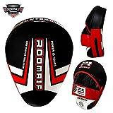 Roomaif piel de paos Cajas Boxeo Thaipads Manoplas Pads Leather Focus Pads de, negro rojo