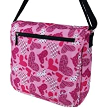 Pour Moi Large Hearts Dispatch Messenger Bag (Pink)