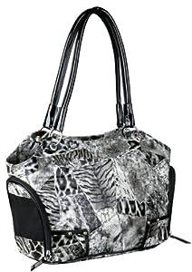 Donna carrier, high shining cat / dog bag carrier, animal-skin look 20 × 27 × 42 cm