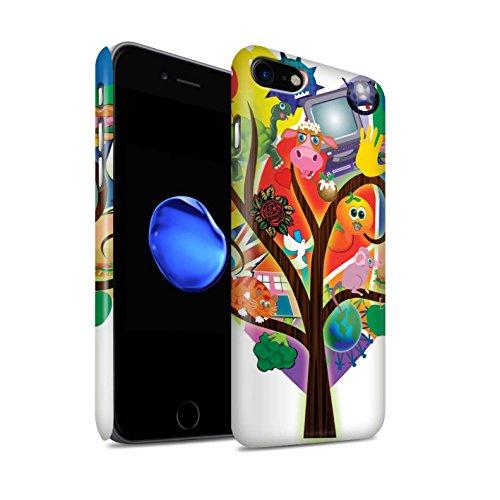 STUFF4 Matte Snap-On Hülle / Case für Apple iPhone 7 Plus / Flüssigkeit Wirbelt Muster / Modern Lebendig Kollektion Collage Baum