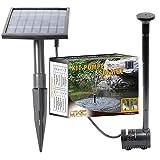Linxor ® Solar Wasserpumpe, teichpumpe für Springbrunnen, Teich oder Garten – 5 Meter Kabel – EG-Norm