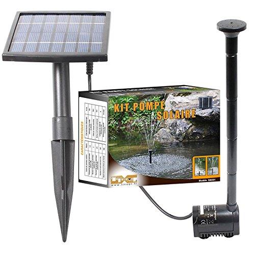 Linxor France  Pompe à eau solaire pour fontaine, bassin ou jardin... avec câble de...