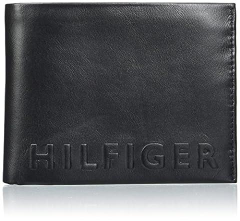 Tommy Hilfiger Hilfiger Deboss Cc Flap And Coin Pocket, Porte-monnaie homme, Schwarz (Black), 2x8x11 cm (L x H P)
