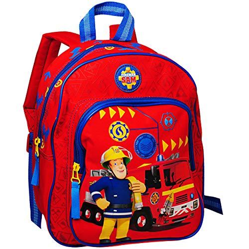 alles-meine.de GmbH 3D Effekt _ Kinder Rucksack - Feuerwehrmann Sam - Tasche - beschichtet & wasserfest - Kinderrucksack / groß Kind - Jungen - z.B. für Kindergarten / Vorschule .. -