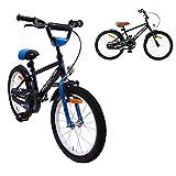 AMIGO - BMX Fun - Bicicletta Bambini - 18'' (per 5-8 Anni) - Nero/Blu
