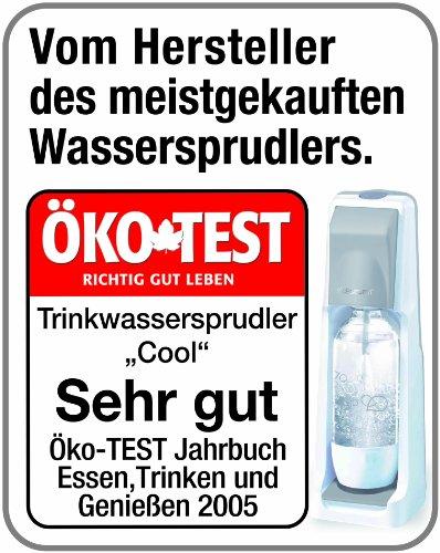 SodaStream Wassersprudler-Set Crystal - mit dem Glaskaraffen Sprudler ohne schleppen aus Leitungswasser prickelndes Sprudelwasser machen (1x CO2-Zylinder 60L und 2x 0,6L Glaskaraffen) Titan/Silber -