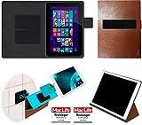 reboon Hülle für HP Omni 10 Tasche Cover Case Bumper | in Braun Leder | Testsieger