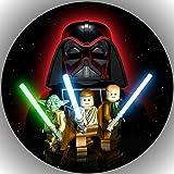 Fondant Tortenaufleger Tortenbild Geburtstag Star Wars T5