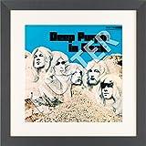 LP Vinyl Cover Rahmen zum Aufhängen in anthrazit mit Passepartout in weiß - Wechselrahmen aus Glas und Holz für Schallplatten Album Plattencover - quadratischh