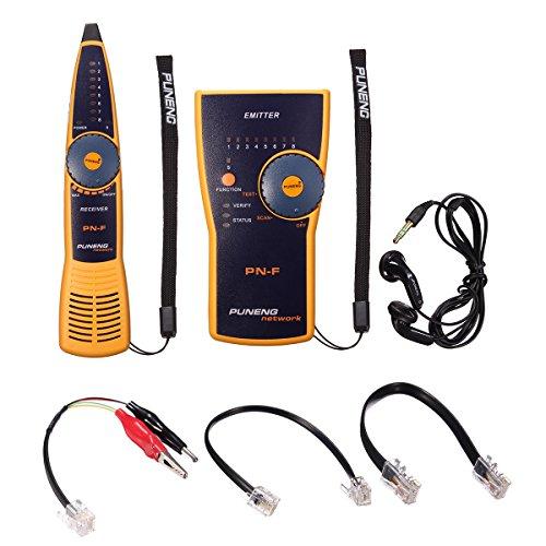 ELEGIANT Tester di Linea Telefonica,Sistema di Tracciamento Inseguitore Fili Cavo Telefonico,Strumento Tester,Senza Batteria. Linea di Ricerca della Rete PN-S RJ45 / RJ11 Strumento Hunt-line,Giallo
