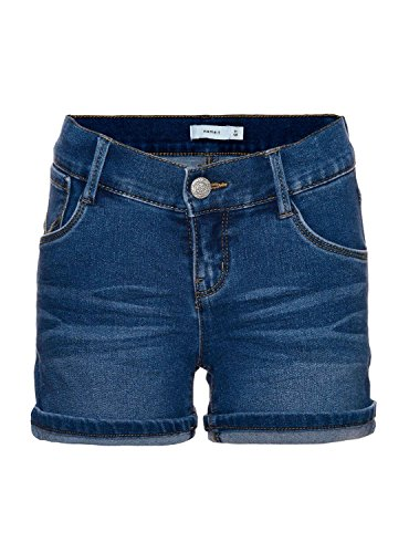 Name it Mädchen Jeans Shorts Hotpants NITTAIDA SLIM DENIM SHORTS 13131278 medium blue denim Gr.164