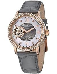 Stuhrling Women's Memoire Grey Genuine Leather Strap Watch 710.04