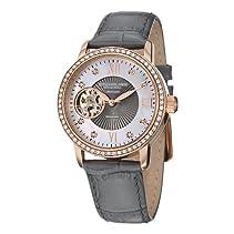 Stührling Damen Uhr Leder Armband grau Automatik