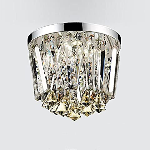 Flush Mount Traditional Classic Electroplated Feature Crystal LED Mini Style Crystal