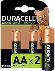 Duracell Şarj Edilebilir AA 1300mAh Piller, 2'li paket