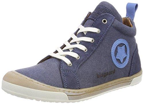 Bisgaard Unisex-Kinder Schnürschuhe Hohe Sneaker, Blau (Blue), 34 EU