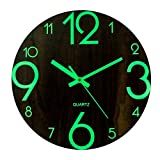 Mecotech 30cm Reloj Luminoso Pared Reloj Pared Silencioso Luminoso Reloj de Pared para Decoración de Cocina, Casa, Oficina, Dormitorio