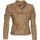 Damen Sommer Lederjacke in 16 Farben Biker Style 0508 Vegan Leder