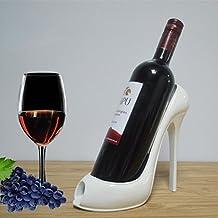 Zapatos de Tacón forma estante de vino rojo vino de silicona Portabotellas Kitchen Bar Escaparate Home parte suministros ,blanco
