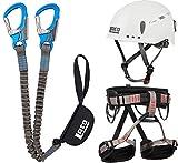 Klettersteigset LACD Ferrata Pro Evo + LACD Gurt Start + Helm LACD Protector (L)