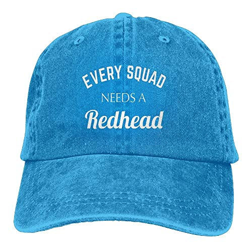 Every Squad Needs A Redhead Washed Cap Cowboy Baseball Hat Royalblue Redhead Fleece