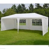 New 3Mx6M Waterproof Outdoor PE Garden Gazebo Marquee Canopy Awning Party Wedding Tent
