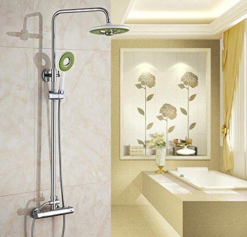 MOREY Dusche Sets All-Kupfer Duscharmatur intelligenter Thermostat Wasserhahn mit warmen und kalten Wasserhähne große Brausegarnitur