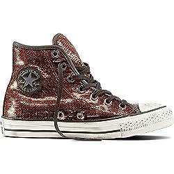 cobre 559039C inverso calza las zapatillas de deporte negras cordones de cobre de alta lentejuelas 39