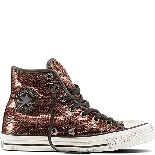 CONVERSE 559039C Kupfer schwarze Schuhe Turnschuhe hohen Kupfer Pailletten Schnürsenkel 39 (Schuhe Kupfer)
