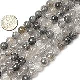 Sweet & Happy Girl's store 8mm facettierten Bergkristall Perlen Strang 15 Zoll Schmuckherstellung Perlen