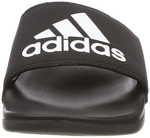 adidas Herren Adilette CF+ Logo Aqua Schuhe Schwarz (Cblack/cblack/ftwwht Cg3425)