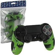 ZedLabz SG-1 silicone rubber grip cover case skin for Sony PS4 controller - camouflage camo green [Importación Inglesa]