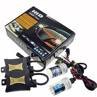 JINYJIA 12V 55W Xenon HID Conversion Kit Headlight for Car Vehicle Replacement Bulb, H7/10000K