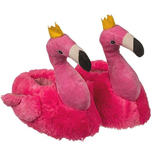 Bada Bing Kuschel Hausschuhe Flamingo Queen 39/40 Plüsch Pantoffel Sommer Tropical Vogel 41