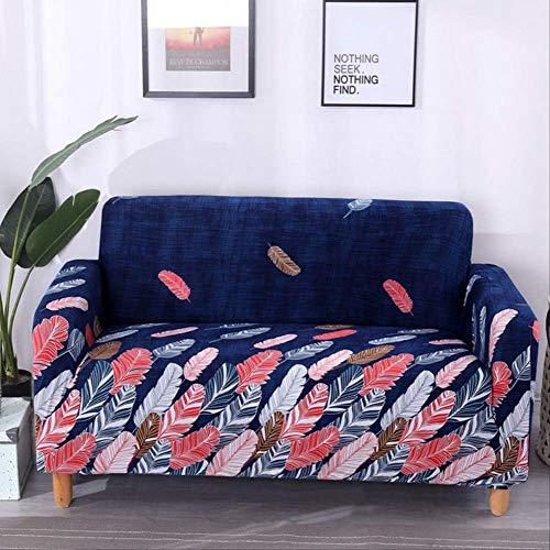 Dyb&home copridivano elasticizzato , protezione per mobili jacquard piuma blu scuro/colorato , fodera 1/2/3/4 posti , tessuto morbido in poliestere lavabile in lavatrice