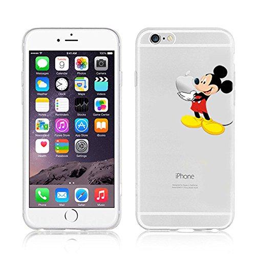 Disney Cartoons transparent TPU Soft Case Apple iPhone 6/6S–6Plus & 6Plus .S, plastik, Stitch, APPLE IPHONE 6PLUS .s Mickey Maus