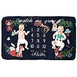 Coperta in pile per bebè mensile e mensile, extra large, per sfondo fotografico, ideale come regalo per baby shower o per gemelli