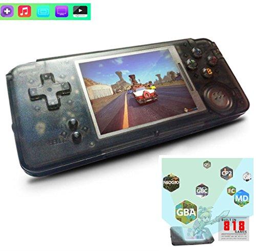 Retro Handheld-Spiel-Spieler Bulit-in 818 Retro-Spiele 64 Bit 3,0 Zoll Spielkonsole Unterstützung für Nintendo-Serie/NEOGEO/GBC/FC/CP1/CP2/GB/GBA (818 Serie)