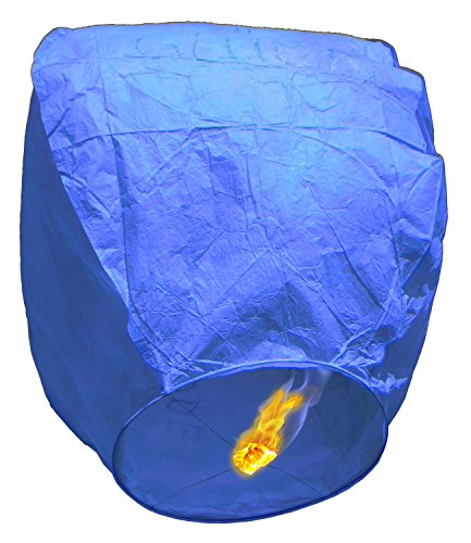 ® Cobalt-Lanterne, Multipack, forma ovale (Kongming Skylantern)-Ideale per feste, matrimoni, anniversari e tutte le occasioni (Cobalt Blue Led)