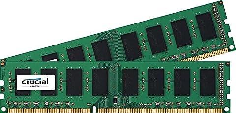 Crucial CT2K25664BD160B 4GB Kit (2x 2GB) DDR3L-1600 UDIMM Internal RAM Module für Laptop/Mac