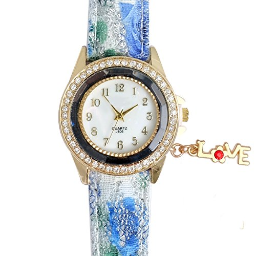 Super Drool ST2457_WT_LOVE_1 Love Charm Analog Watch For Girls